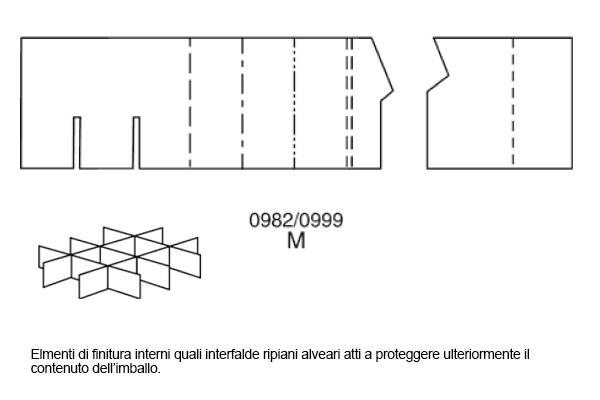 Elmenti di finitura interni quali interfalde ripiani alveari atti a proteggere ulteriormente il contenuto dell'imballo.